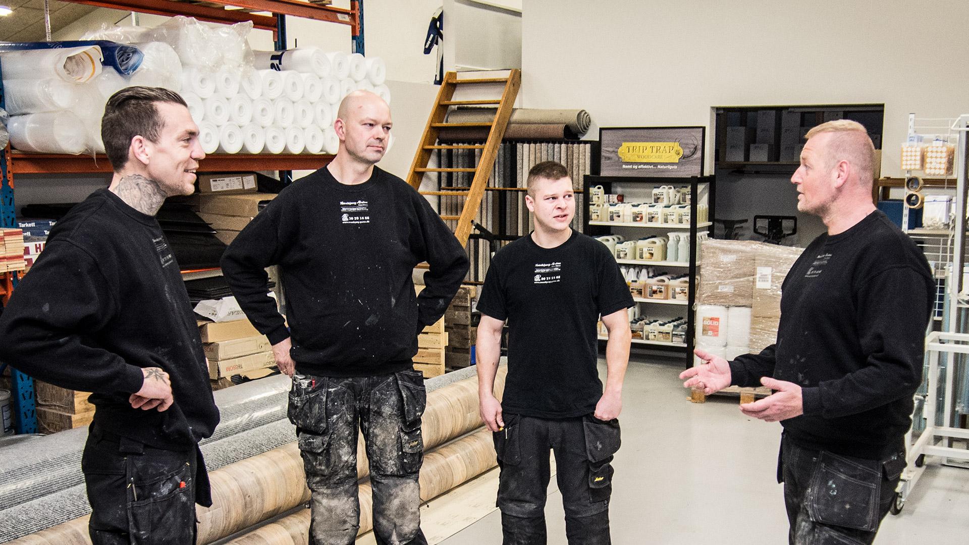 Personalet hos Næsbjerg Gulve i Varde