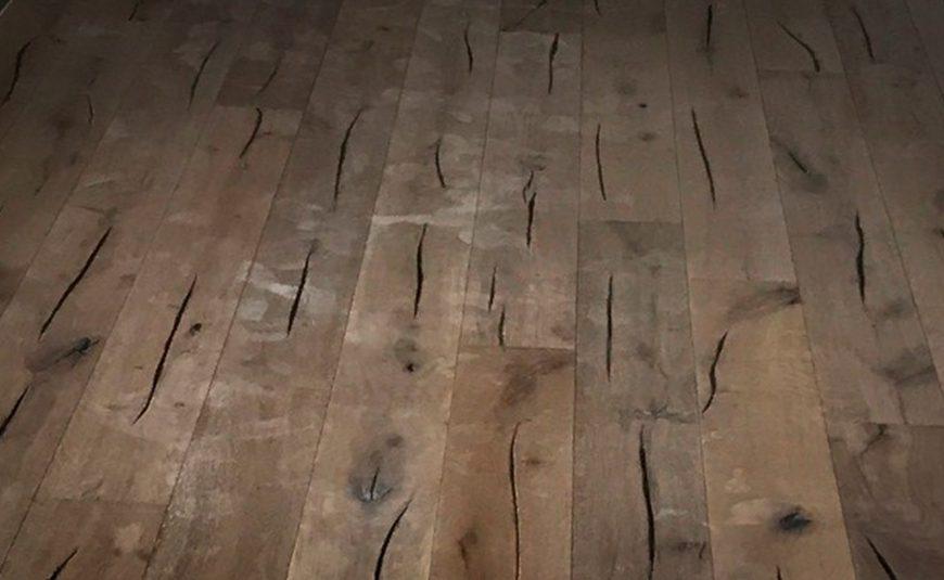 Timberman trægulv i eg med hvid lak monteret af Næsbjerrg Gulve